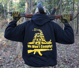 AKOU We Won't Comply Hoodie!