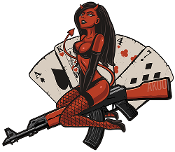 AK47 Devil Girl Sticker!